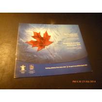 Coleccionador Monedas 25 Cents Canada 2008 Vancuver 2010