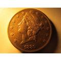 Moneda U.s.a. Norte America 20 Dolares 1880 Una Onza De Fino