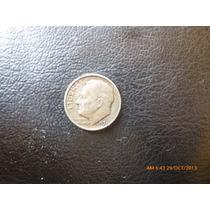 Moneda Estados Unidos 10 Cents / Dime Roosevelt 1951 Plata