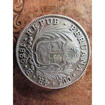Antigua Moneda Plata Peru 4 Reales 1836 B Muy Buena
