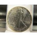 Un 1 Dolar Liberty 1989 Una Onza Plata Fina Impecable 4 Cm