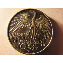 Moneda De Plata Alemana 10 Mark 1972 Juegos Olimpicos Munich