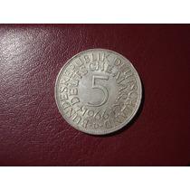 Moneda Alemana 5 Deutsche Mark 1966