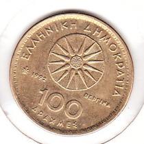 Moneda Griega Grecia Valor Facial (100 Apaxme) 1992