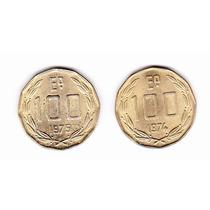 Monedas 100 Escudos Chile 1974-1975