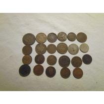 23 Monedas De Cobre Chilenas Antiguas Diversas
