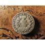 Antigua Moneda Plata Chile Dos Real 1846 Rompiendo Cadenas