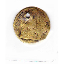 Moneda De Chile 2 Pesos Oro Falsificacion De Epoca