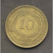 Moneda 10 Centesimos Año 1965