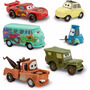Cars Pack 6 Autos Rayo Mcqueen, Mate, Luigui