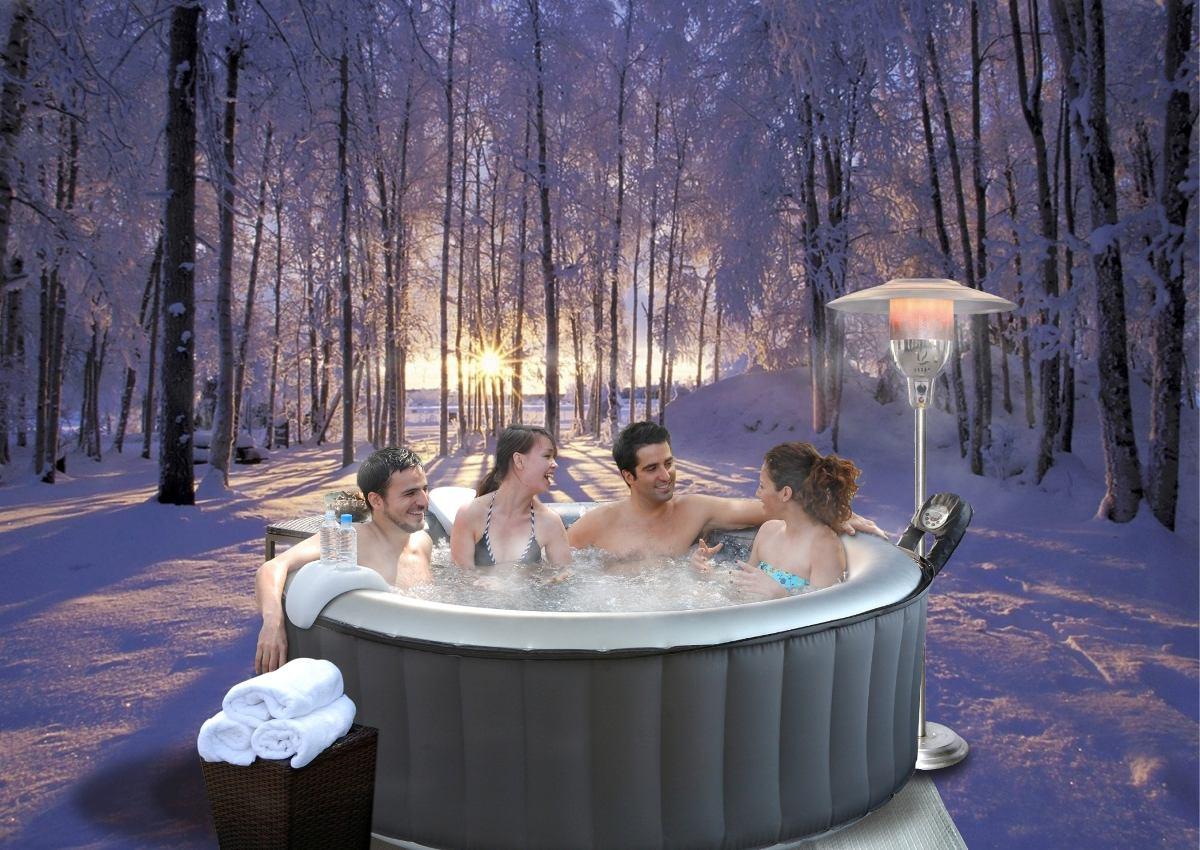 Mspa jacuzzi tina spa inflable 4 personas silver cloud for Precio jacuzzi 4 personas