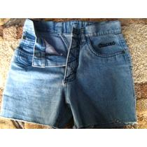 Bonito Short Jeans Ajustado Con Flecos Marca Cacao Talla12