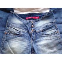 Jeans Tiro Alto Amalia Talla 42 Elasticado
