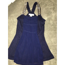 Blusa Hermosa Azul Marino Con Aplicación Metálica Talla S
