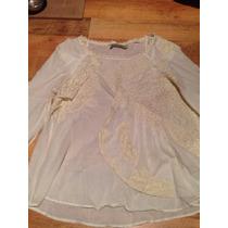 Blusa Color Crema Rapsodia Talla M