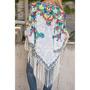 Elegante Kimono Vintage Con Flecos