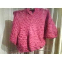 Tejido A Crochet Color Cereza Talla 36-38