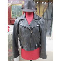 Chaqueta 100% Cuero Soviet Color Negro De Mujer Talla L