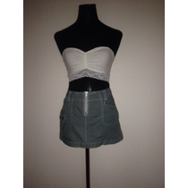 Linda Falda Cortita Color Gris Mossimo Top Short Enterito