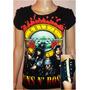 Polera Importada Para Mujer Con Alfileres Tachas Rock Metal