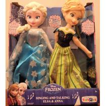 Muñecas Frozen, Anna Y Elsa. Disney. Con Sonidos