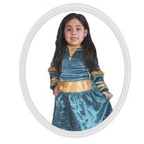 Disfraz De Niña Disney Brave Valiente 3 Años