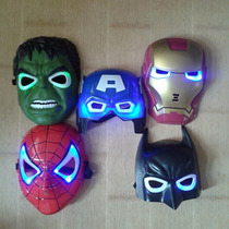 Mascara Con Luz Led - Batman - Capitan America - Iron Man