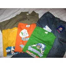 Pack De Ropa Nueva Para Niños Talla 6 Y 8