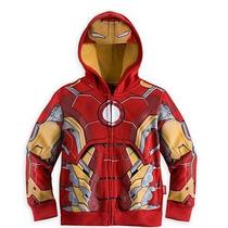 Iron Man Poleron Tipo Disfraz Talla 3 A Talla 10