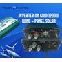 Inversor On Grid Mppt - Turbina + Panel Solar 28/55vdc 1200