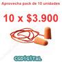 Tapones Para Oido Espuma Naranjo Marca 3m (pack 10 X $3.900)