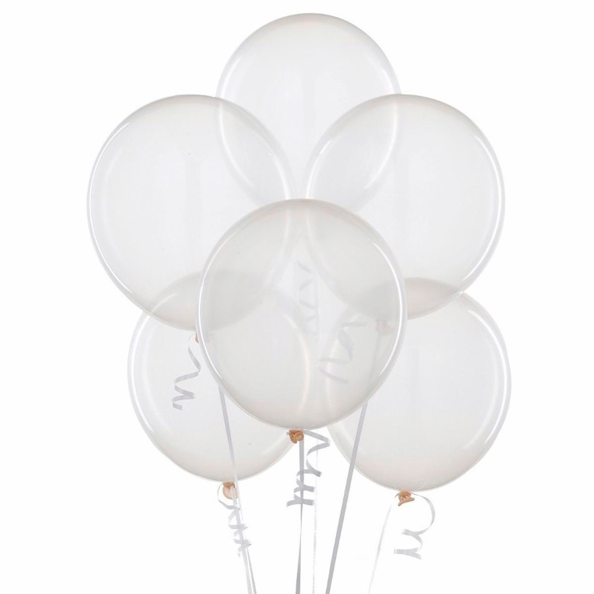 pack de 25 globos struffing cristal transparente r 18 fiestaclub
