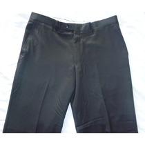 Pantalon Vestir Hombre Pierre Cardin Flat Front 100% Lana