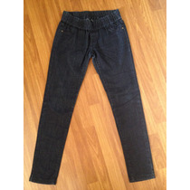 Leggins Calzas Jeans Pitillo Basement Azul Marino T/38
