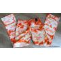 Pantalones Marca Bebe Jeans Hippy Naranja Cotele Elasticado