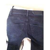 Jeans Zara Negro Slim Pitillo Talla 43 Original Negro