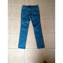 Lindos Pantalones Jeans Pitillos Top Verde Petróleo Legiones