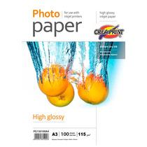 Papel Fotografico Hd 100 Hojas A3 115 Grs Creaprint
