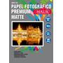 Papel Premium Matte A4 De 130gr / 100 Hojas Malik