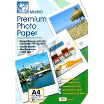 Papel Adhesivo Glossy A4 135g/m2 20 Hojas (jdmprint)