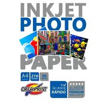 Papel Fotografico 20 Hojas A4 Premium Brillante 210 Grs