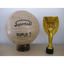 Balón Oficial Mundial Brasil 1950. Modelo Super Duplo T.