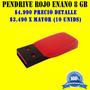 Pendrive Enano Rojo-negro, 8 Gb