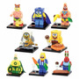 Figuras Lego Bob Esponja Para Armar, Nuevos, Solo En Bolsa!