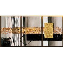 Cuadros Abstractos Modernos,tripticos Decorativos $45.000