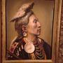 Cuadro Al Oleo, De Jefe Indio Americano Antiguo,excelente.