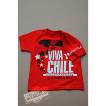 Polera De La Roja De Chile Estampado En Serigrafía