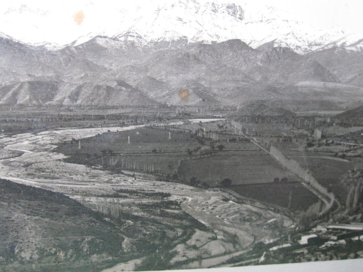 Postal valle aconcagua los andes rio aconcagua 1940 6 - Casas en el valles occidental ...