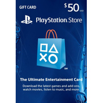 Psn Card 50 Usd - Playstation Network Card