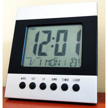 Reloj Digital Casa&oficina - Hora, Fecha, Día, Temperatura -